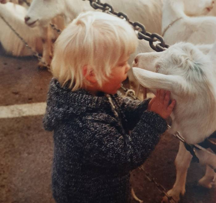 Kathrin mit Ziege